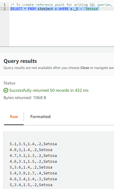 How to Query S3 Objects with S3 Select 5