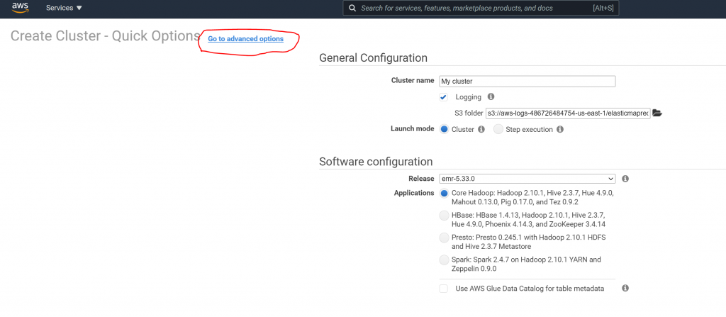 How to Create an EMR Cluster 3