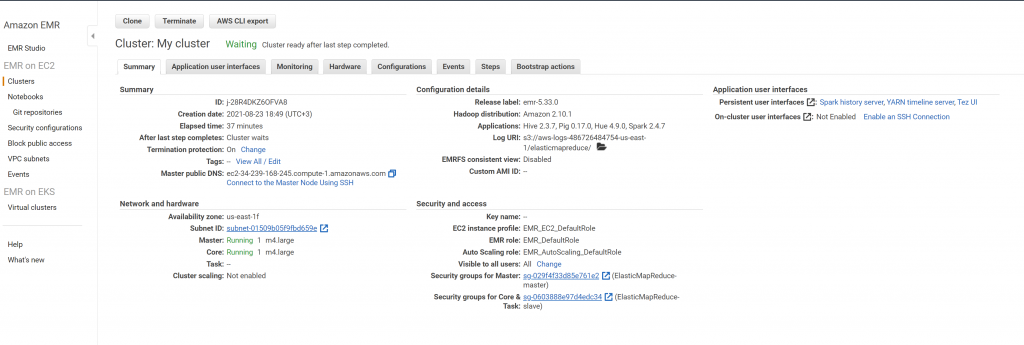 How to Create an EMR Cluster 8