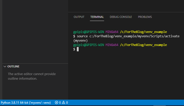 How to work with VS Code and Virtual Environments in Python 3